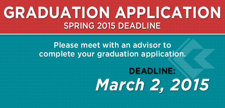 CCC Graduation Application Deadline