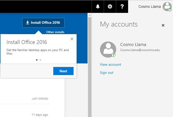 Office 365 Sign Out