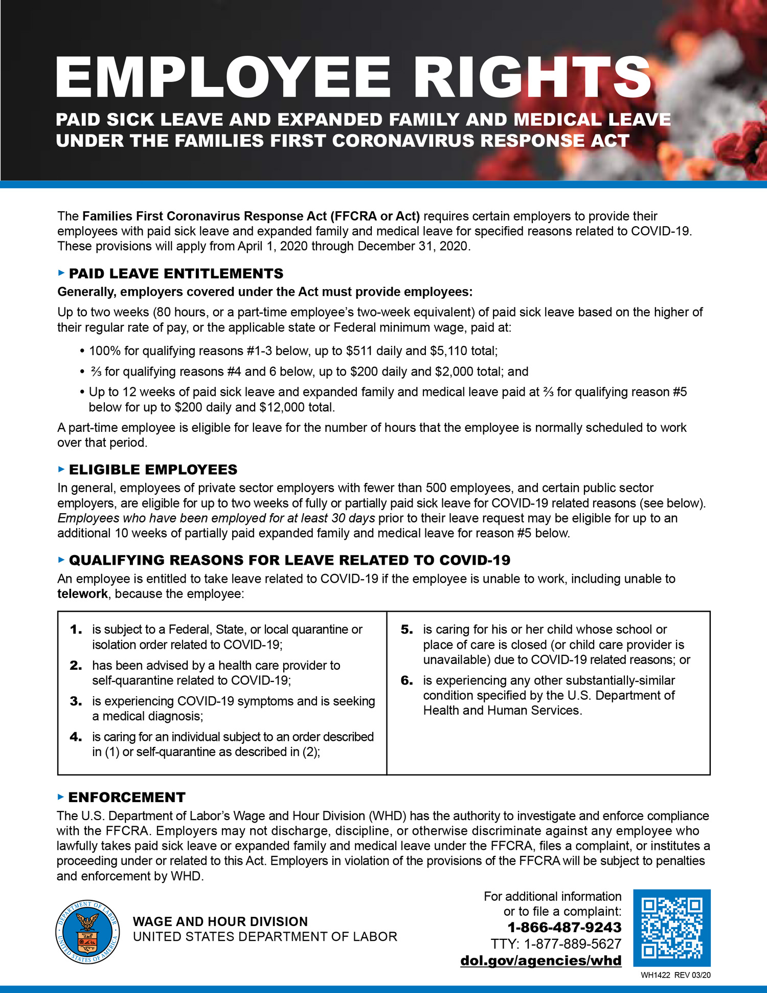 Image of Families First Coronavirus Response Act flyer