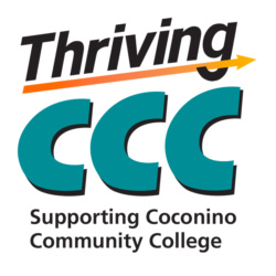 Thriving CCC Logo - Supporting Coconino Community College tagline