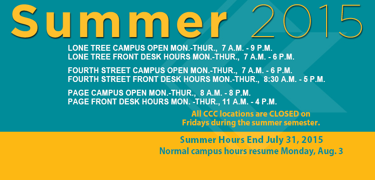 CCC Summer Hours