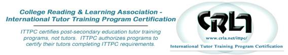 College Reading and Learning Association certificate image